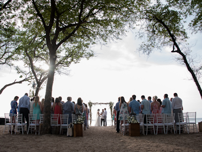 Wedding at Langosta Beach Club in Tamarindo, Costa Rica. Photographed by Kristen M. Brown, Samba to the Sea Photography.