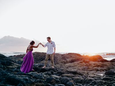 Elopement on the beach in Costa Rica.