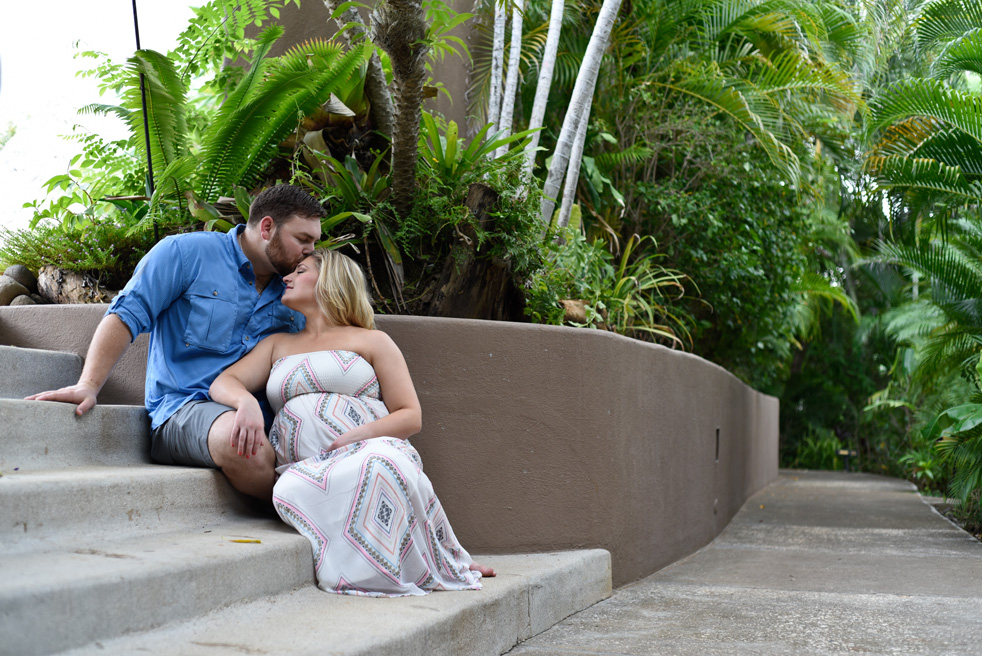 Maternity photos at Cala Luna Boutique Hotel in Playa Langosta, Costa Rica.