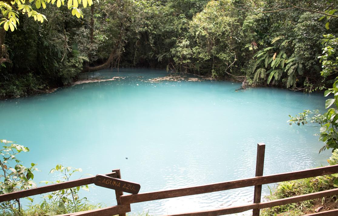 Laguna Azul (Blue Lagoon) at Rio Celeste, Costa Rica