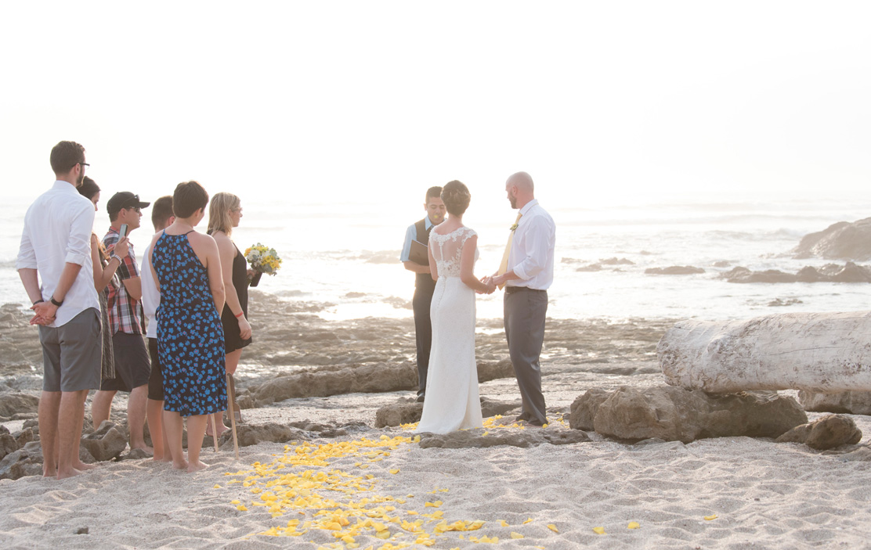 Small Wedding in Playa Langosta, Costa Rica