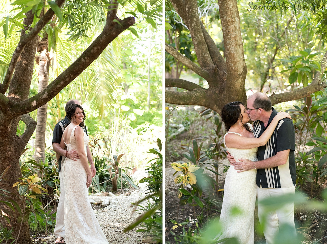 Bride and groom kissing at Teak Pacific Hotel in Nosara, Costa Rica. Photographed by Kristen M. Brown, Samba to the Sea Photography.