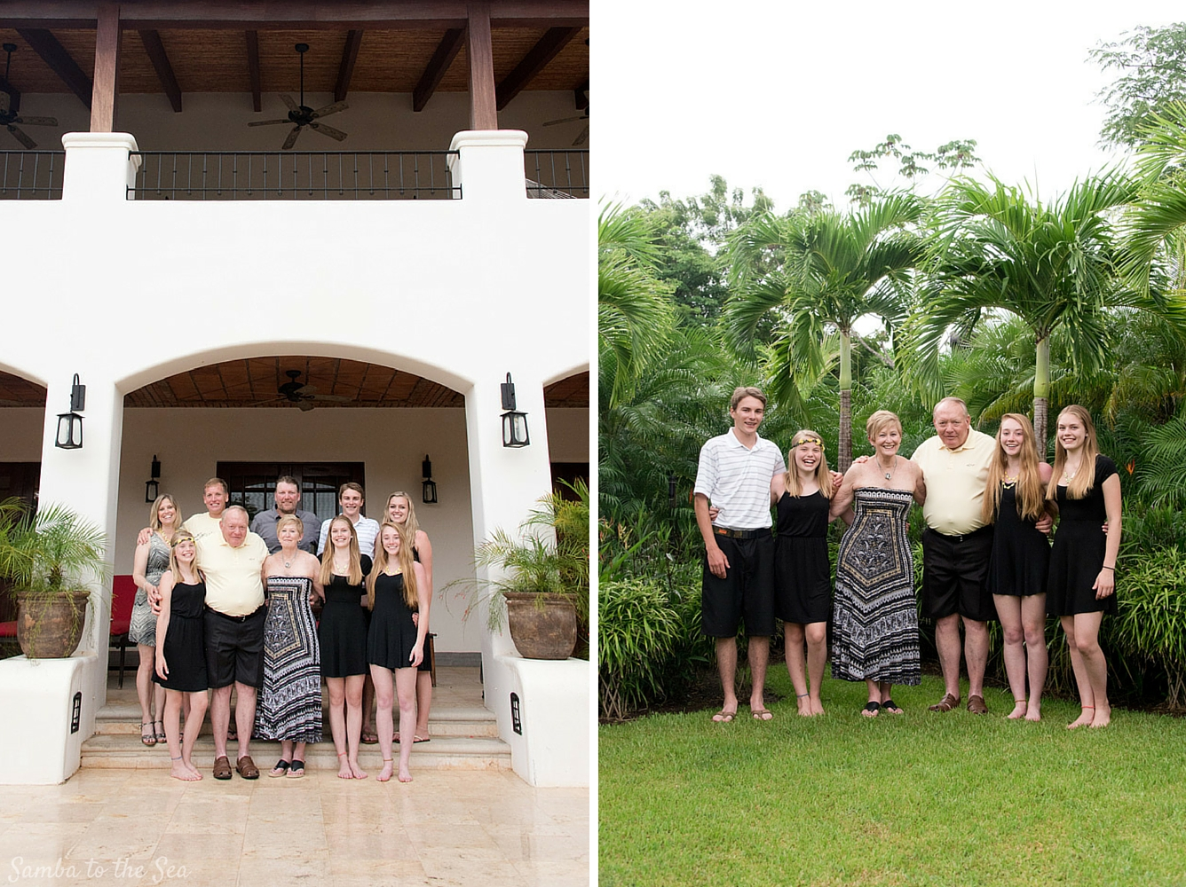 Family photos at Casa Orquidea in Hacienda Pinilla, Costa Rica. Photographed by Kristen M. Brown, Samba to the Sea Photography.