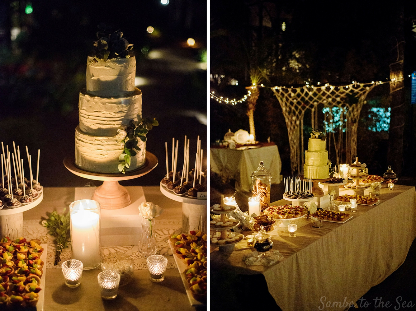 Wedding cakes in Tamarindo, Costa Rica by Victoria Zoch. Photographed by Kristen M. Brown, Samba to the Sea Photography.