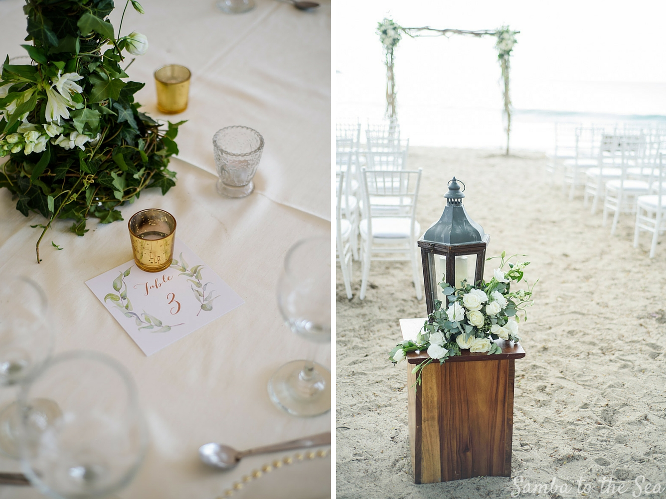 Details at Tamarindo wedding by wedding planner Mil Besos. Photographed by Kristen M. Brown, Samba to the Sea Photography.