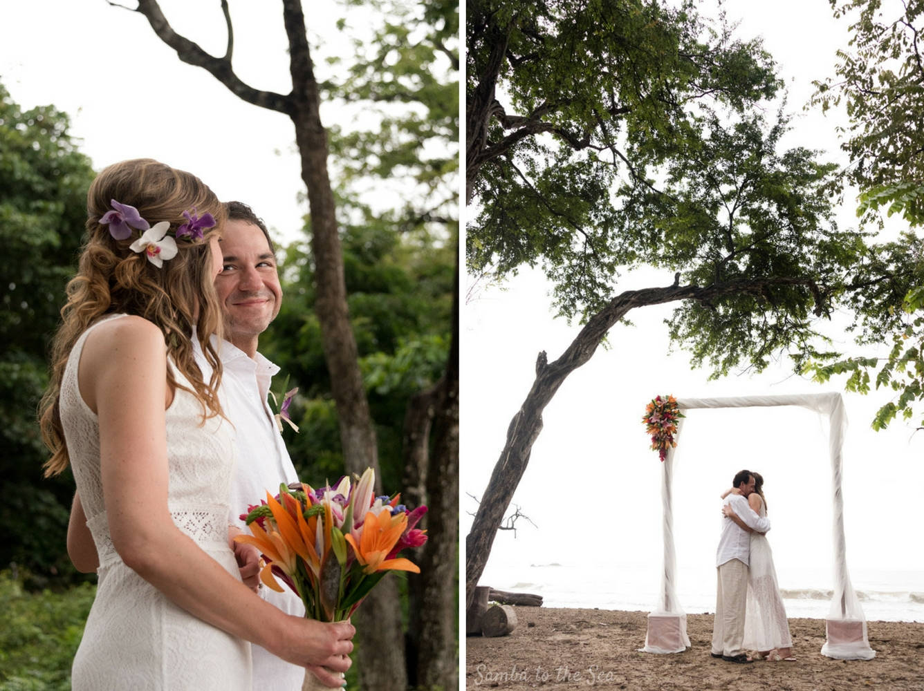 Langosta Beach Club elopement in Tamarindo, Costa Rica. Photographed by Kristen M. Brown, Samba to the Sea Photography.