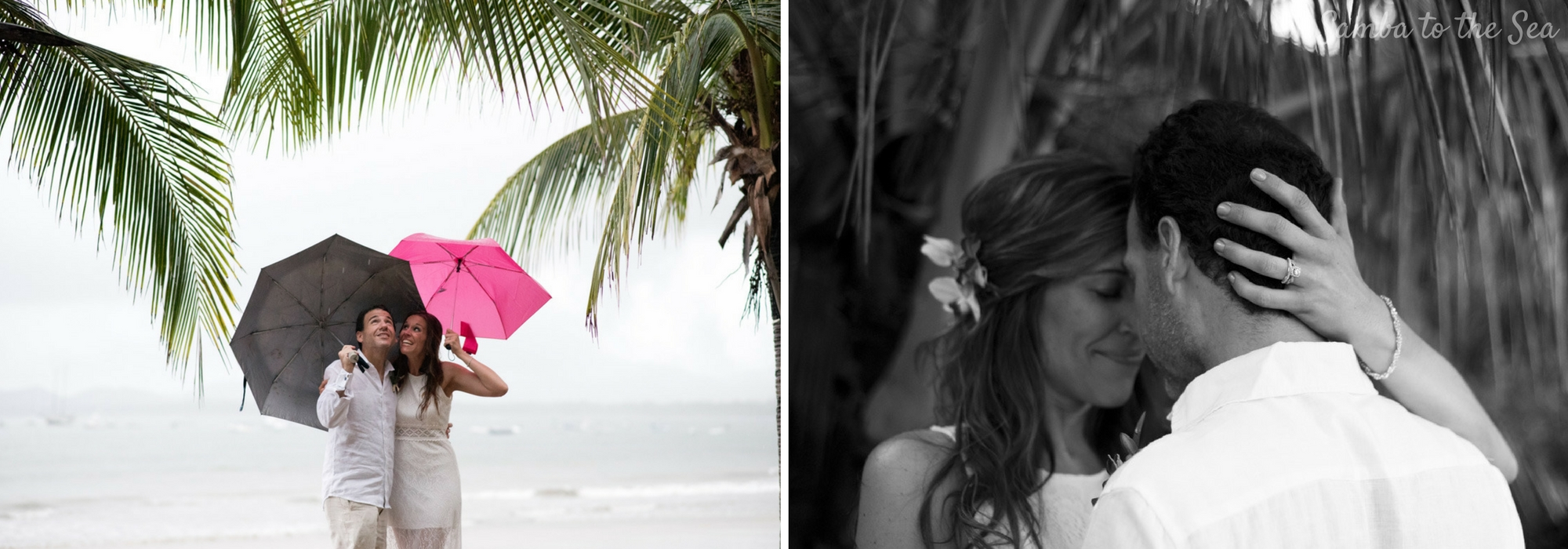Elopement photos in Tamarindo, Costa Rica. Photographed by Kristen M. Brown, Samba to the Sea Photography.