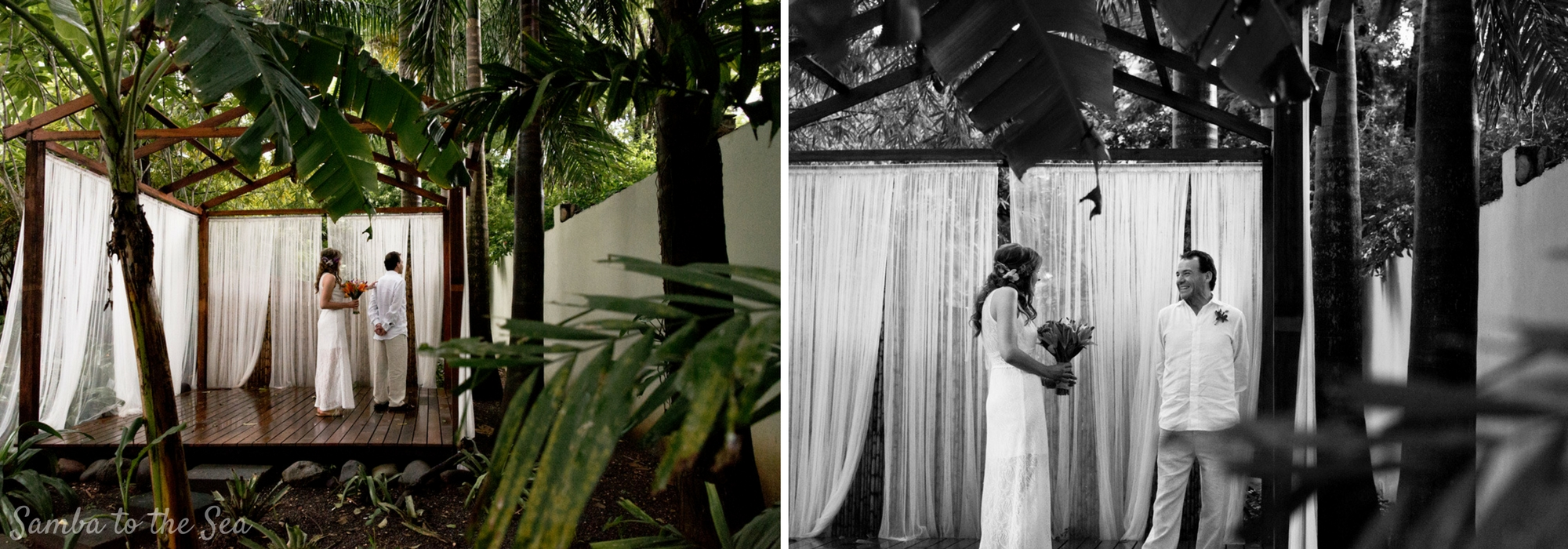 First look photos for Devan and Jim's elopement at Langosta Beach Club in Tamarindo, Costa Rica. Photographed by Kristen M. Brown, Samba to the Sea Photography.