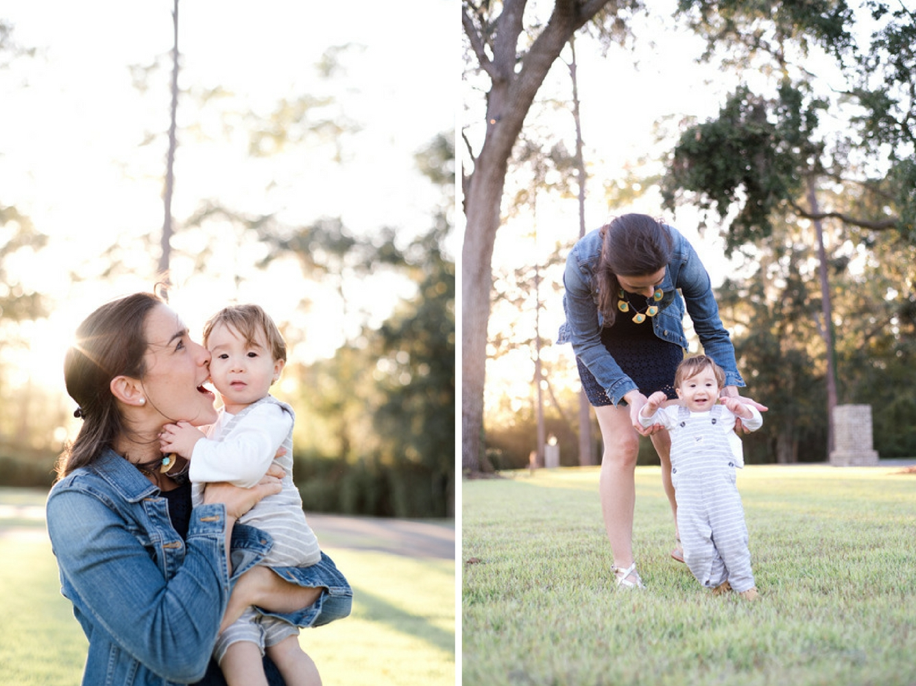 Mother and her 18-month old son playing at the Montage at Palmetto Bluff in Bluffton, South Carolina. Photographed by Savannah Family Photographer, Kristen M. Brown, Samba to the Sea Photography.