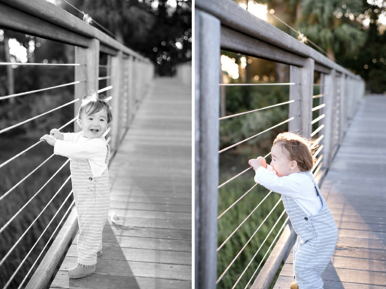 Young boy playing on the dock at Palmetto Bluff, South Carolina. Photographed by Savannah Family Photographer, Kristen M. Brown, Samba to the Sea Photography.