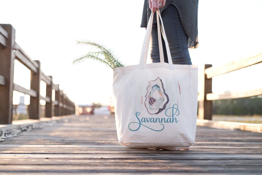 Savannah Bag Company – Welcome Canvas Tote Bags || Brand Photography in Savannah