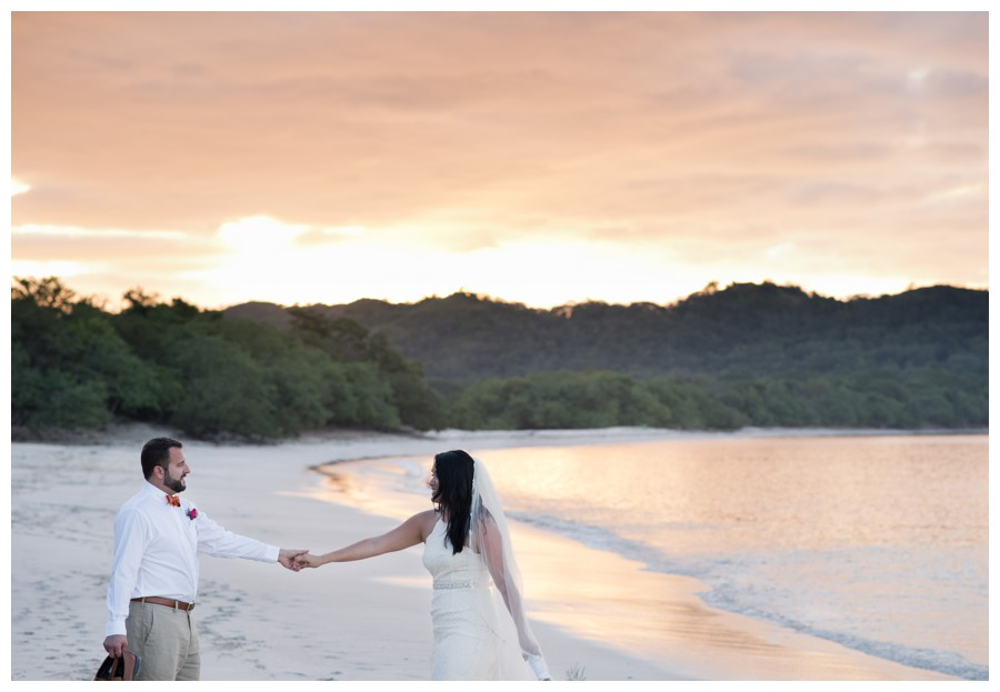 Romantic Beach Elopement at Playa Conchal, Costa Rica || Sarah + Andrew