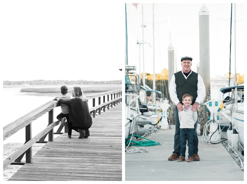 Family portraits at the marina on Isle of Hope, GA. Photographed by Kristen M. Brown, Samba to the Sea Photography.