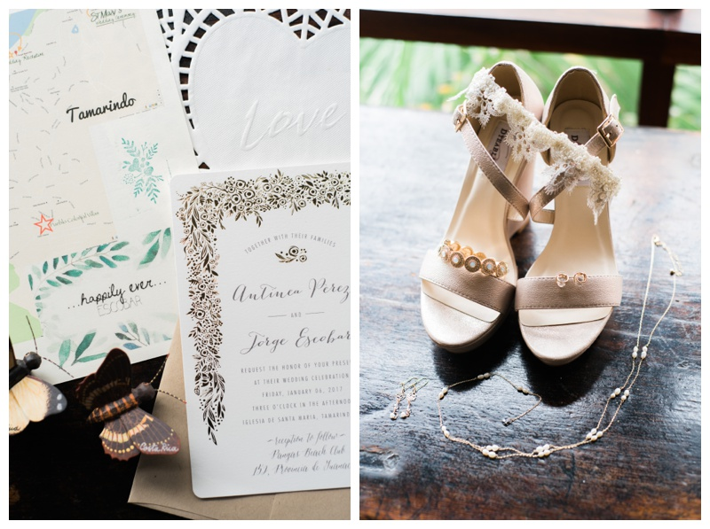 Tamarindo, Costa Rica wedding details. Photographed by Kristen M. Brown, Samba to the Sea Photography.