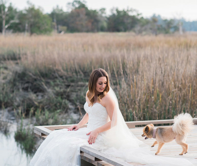 Marsh Bridal Portraits in Savannah