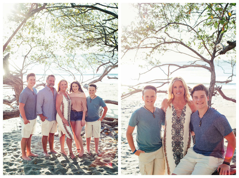 Family photos in Playa Hermosa, Costa Rica. Photographed by Kristen M. Brown, Samba to the Sea Photography.