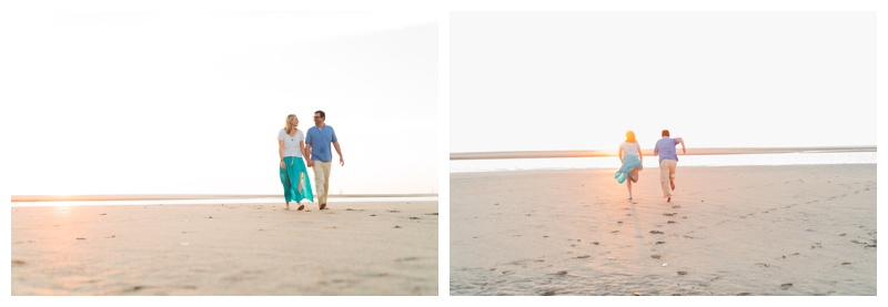 Couple walking on the beach in Tamarindo, Costa Rica. Photographed by Kristen M. Brown, Samba to the Sea Photography.