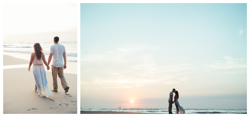 Couple of the beach in Tamarindo, Costa Rica. Photographed by Kristen M. Brown, Samba to the Sea Photography.