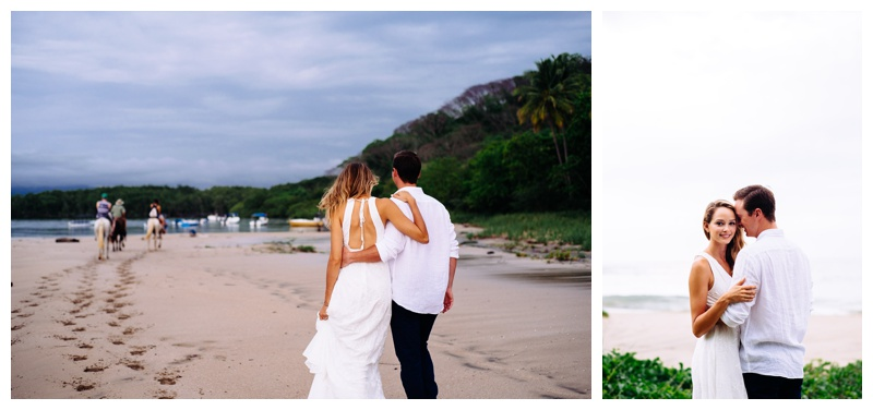 Anniversary photos on the beach in Tamarindo, Costa Rica. Photographed by Kristen M. Brown, Samba to the Sea Photography.