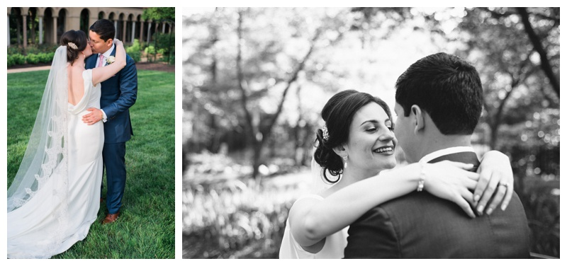 Bridal portraits in the gardens of St. Francis Monastery in Washington DC. Photographed by Kristen M. Brown, Samba to the Sea Photography.