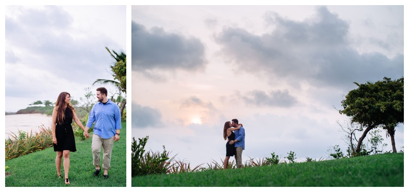 Engagement photos at the JW Marriott Guanacaste, Costa Rica. Photographed by Kristen M. Brown, Samba to the Sea Photography.