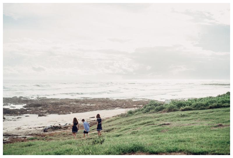 Siblings exploring the beach at Hacienda Pinilla Costa Rica. Photographed by Kristen M. Brown, Samba to the Sea Photography.
