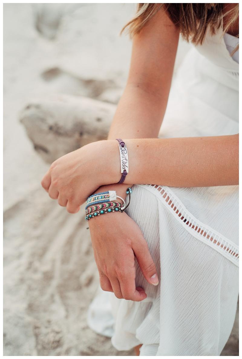 Pura Vida bracelets. Senior photos in Costa Rica. Photographed by Kristen M. Brown, Samba to the Sea Photography.