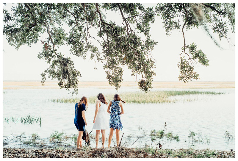 Sisters exploring the marsh in Savannah Georgia. Photographed by Kristen M. Brown, Samba to the Sea Photography.