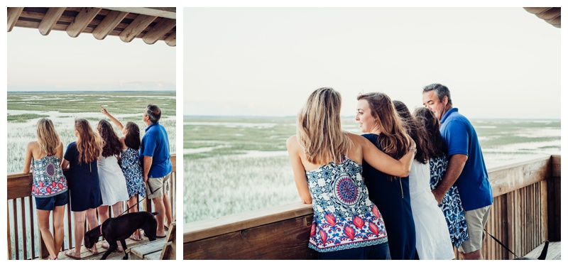 Family looking out over the marsh in Savannah Georgia. Photographed by Kristen M. Brown, Samba to the Sea Photography.