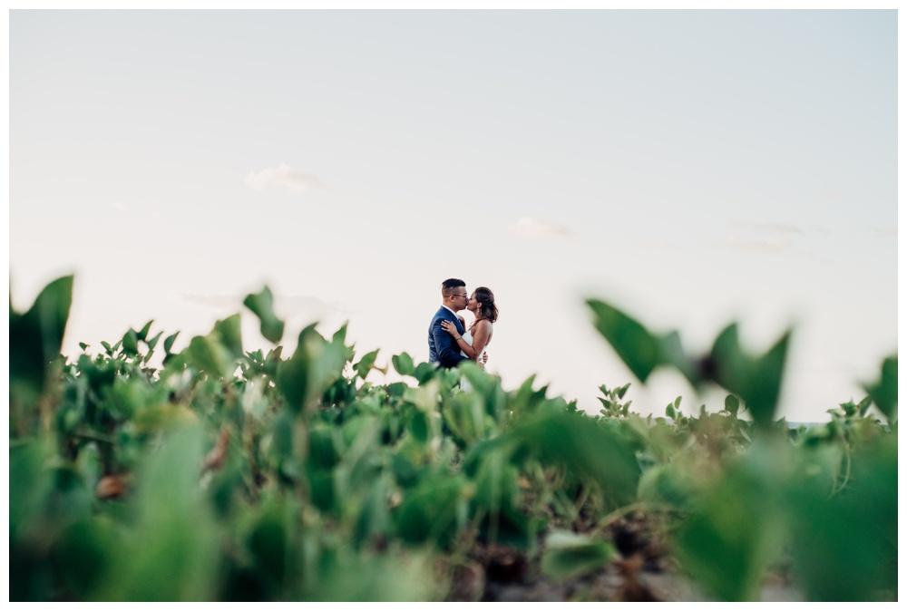 Couple kissing on the beach. Wedding in Guanacaste Costa Rica. Photographed by Kristen M. Brown, Samba to the Sea Photography.