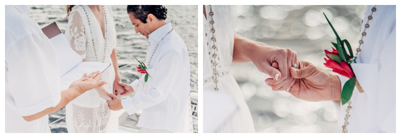 Magical sailboat elopement in Costa Rica. Photographed by Kristen M. Brown, Samba to the Sea Photography.
