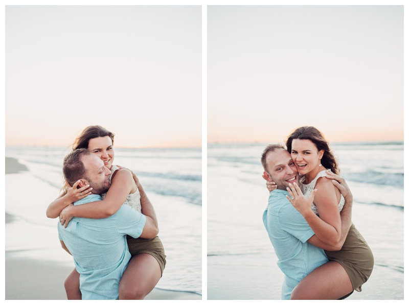 Romantic sunset beach proposal in Tamarindo Costa Rica. Photographed by Kristen M. Brown, Samba to the Sea Photography.