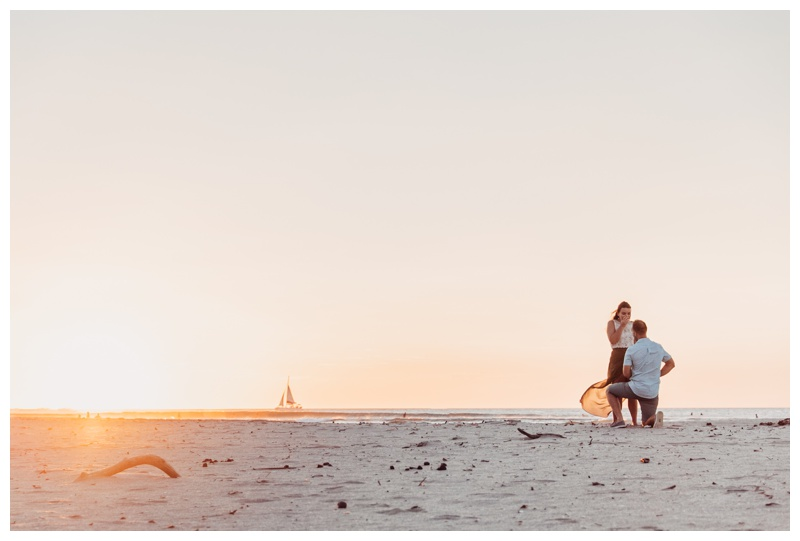 Romantic Sunset Beach Proposal in Tamarindo Costa Rica || Anna + Paul