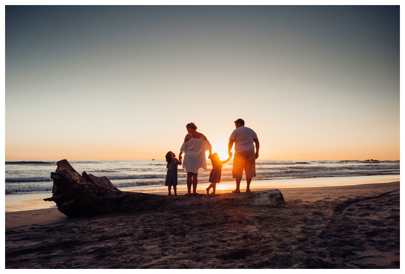 Family photos on the beach in Nosara Costa Rica. Photographed by Kristen M. Brown, Samba to the Sea Photography.