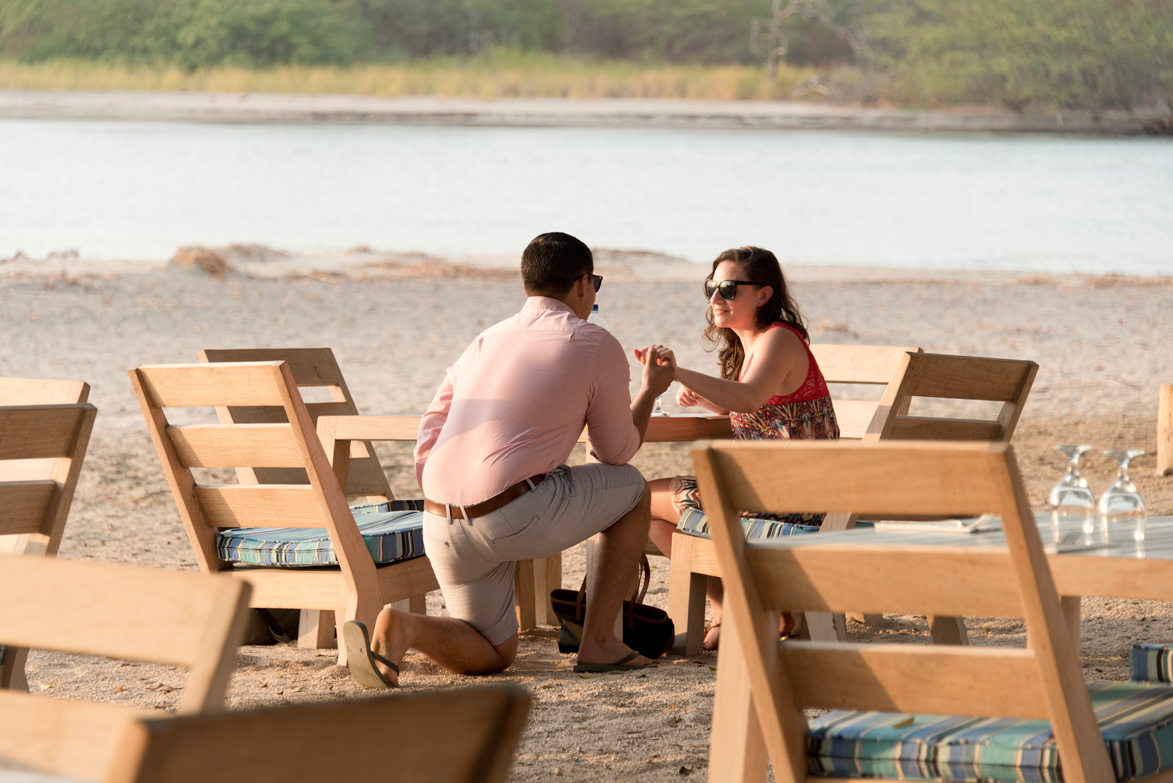 Proposal At Pangas Beach Club In Tamarindo Costa Rica