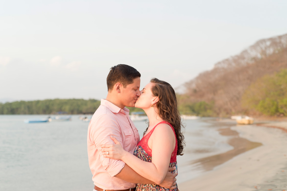 Engagement photos at the Tamarindo river mouth, Costa Rica