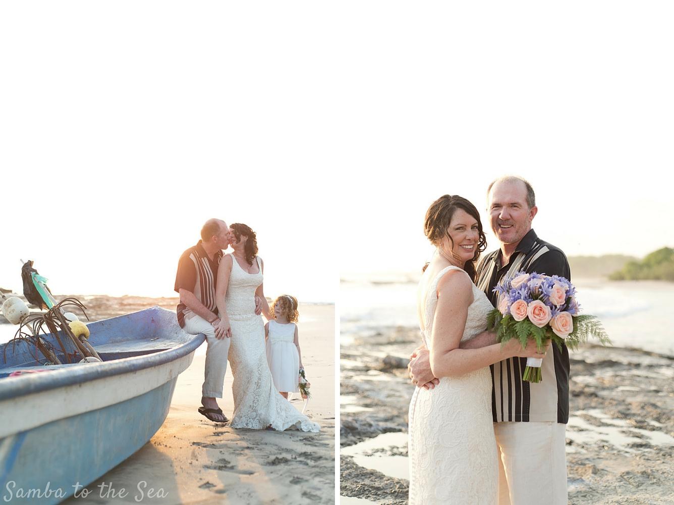 Wedding in Playa Pelada, Nosara, Costa Rica. Photographed by Kristen M. Brown, Samba to the Sea Photography.