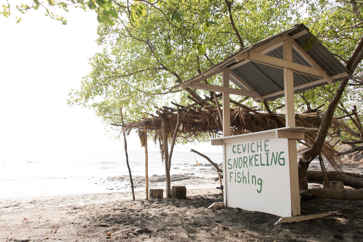 Ceviche stand at Playa Hermosa, Costa Rica. Photographed by Kristen M. Brown, Samba to the Sea Photography.