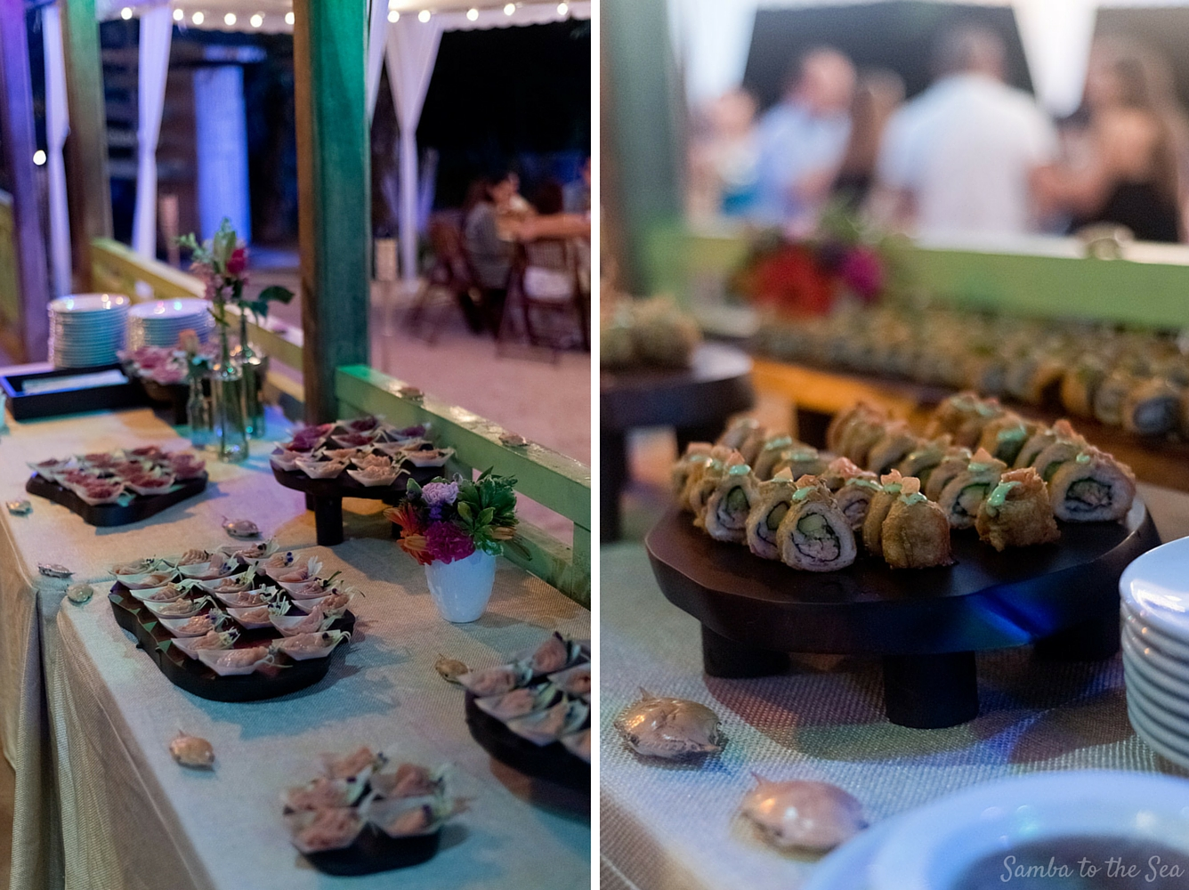 Sushi at Father Rooster in Playa Ocotal, Costa Rica. Photographed by Kristen M. Brown, Samba to the Sea Photography.