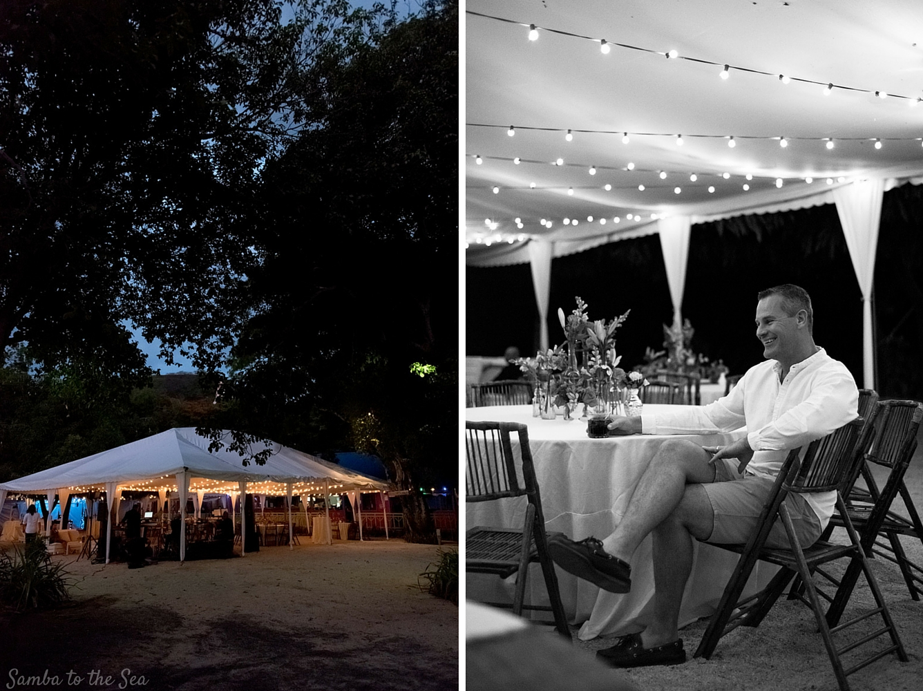 Event at Father Rooster in Costa Rica. Photographed by Kristen M. Brown, Samba to the Sea Photography.