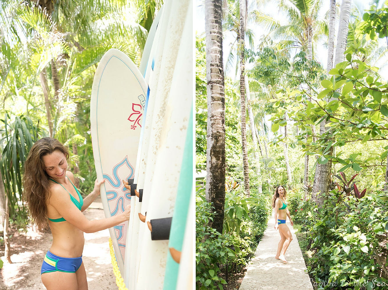 Lifestyle photo shoot for Kim (@_thesunnyside_) at The Harmony Hotel in Nosara, Costa Rica. Kim is wearing a MI OLA surf bikini. Photographed by Kristen M. Brown, Samba to the Sea Photography.