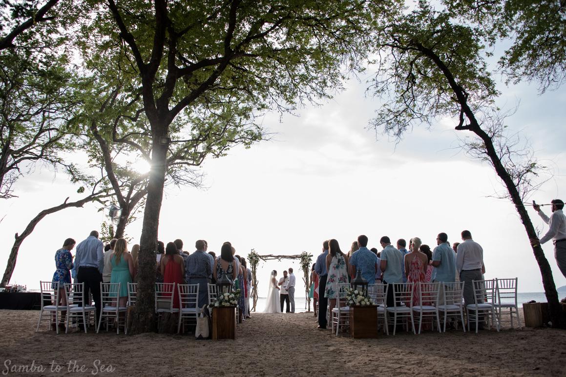 Wedding Ceremony At Langosta Beach Club In Tamarindo Costa Rica Photographed By Kristen