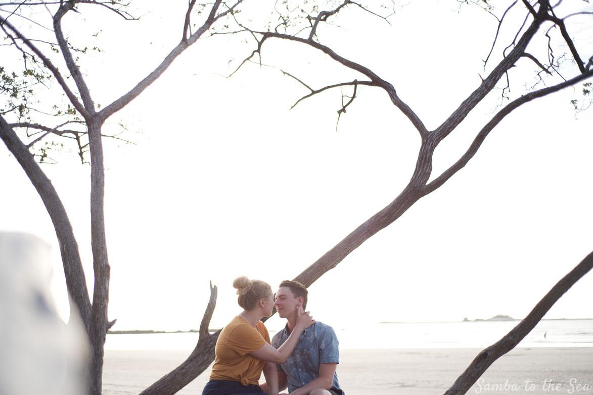 Honeymoon photo in Tamarindo, Costa Rica. Photographed by Kristen M. Brown, Samba to the Sea Photography.