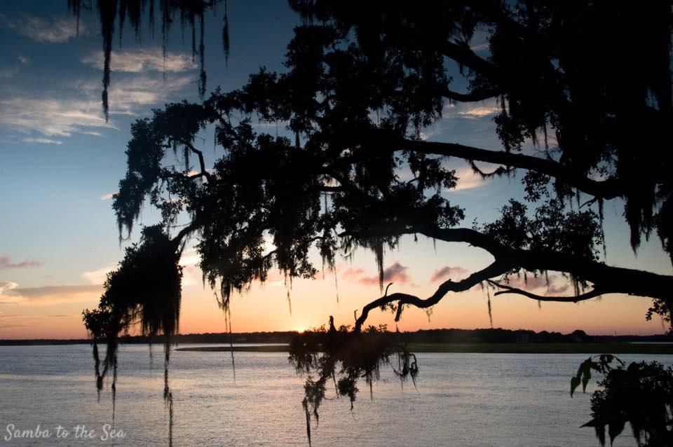 Summer Sunsets in Savannah, Georgia