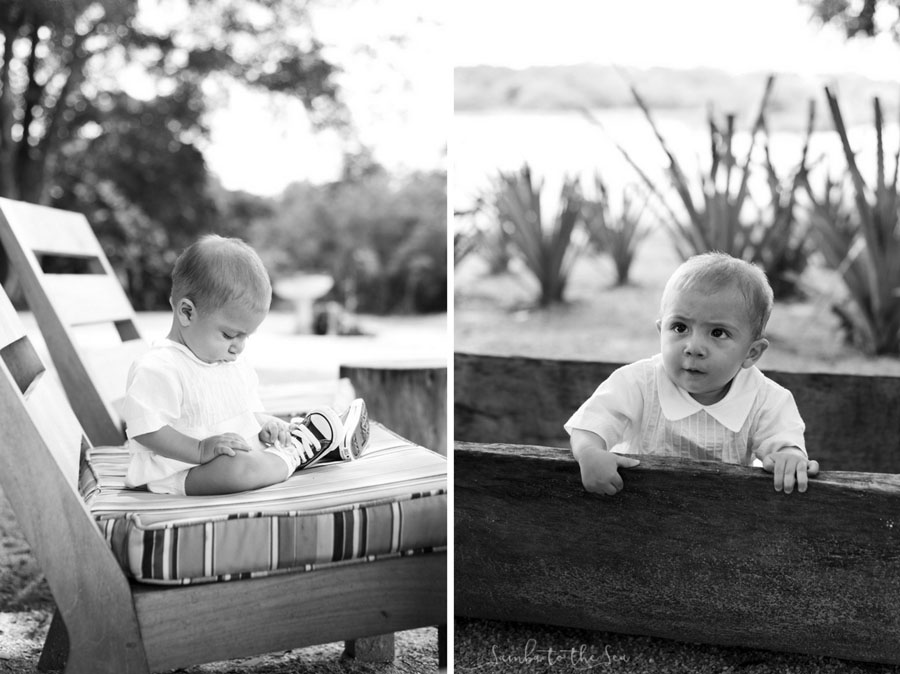Saul's baptism baby photos at Pangas Beach Club in Tamarindo, Costa Rica. Photographed by Kristen M. Brown, Samba to the Sea Photography.