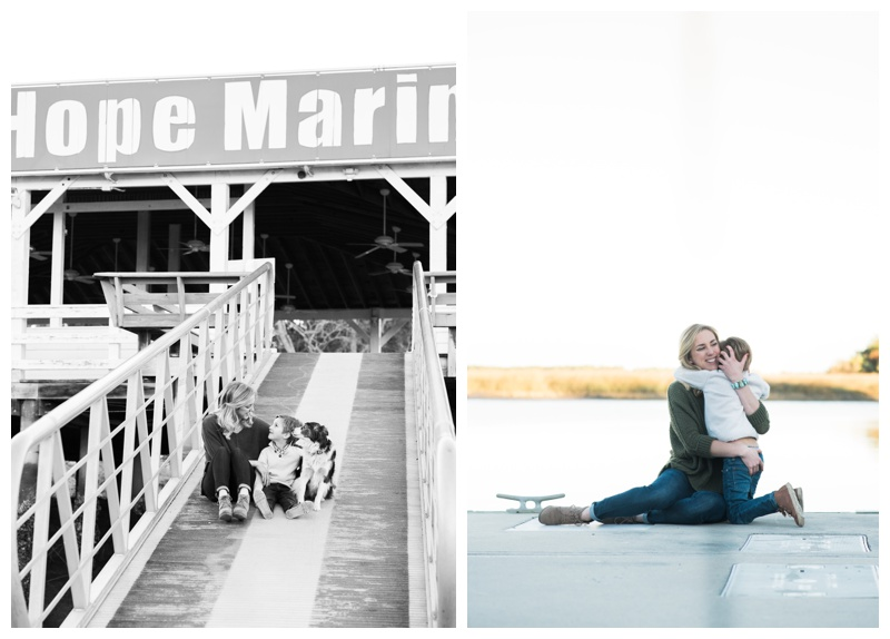 Young family portraits at Isle of Hope marina in Savannah, GA. Photographed by Kristen M. Brown, Samba to the Sea Photography.