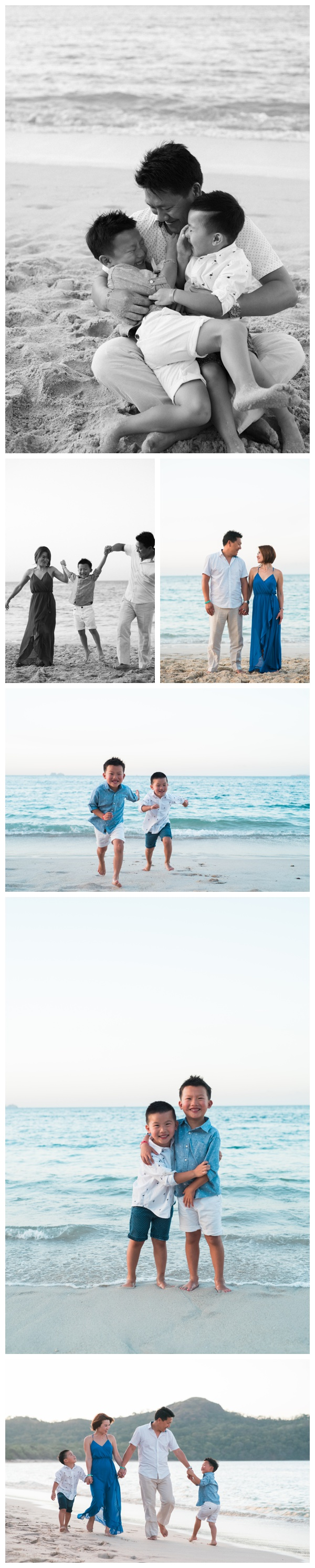 Family Photos on the Beach in Playa Conchal, Costa Rica. Photographed by Kristen M. Brown, Samba to the Sea Photography.