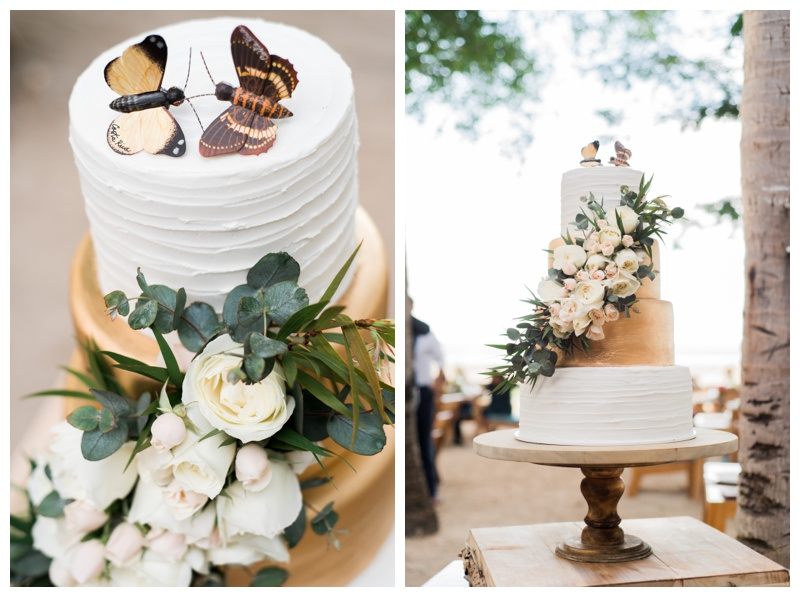 Rustic bohemian wedding cake by Victoria Zoch. Photographed by Kristen M. Brown, Samba to the Sea Photography.