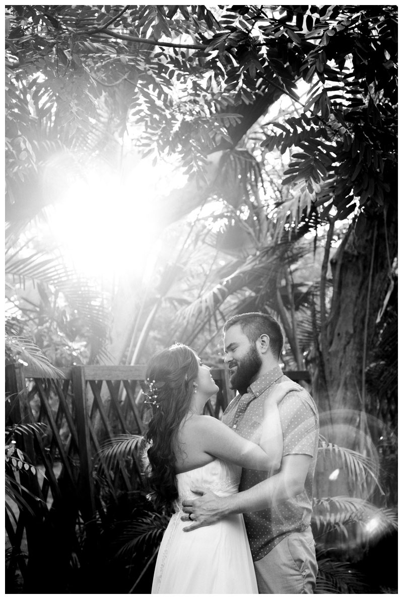 Exploring secret beach paths in Tamarindo, Costa Rica for Erin and Nate's honeymoon photos. Photographed by Kristen M. Brown, Samba to the Sea Photography.