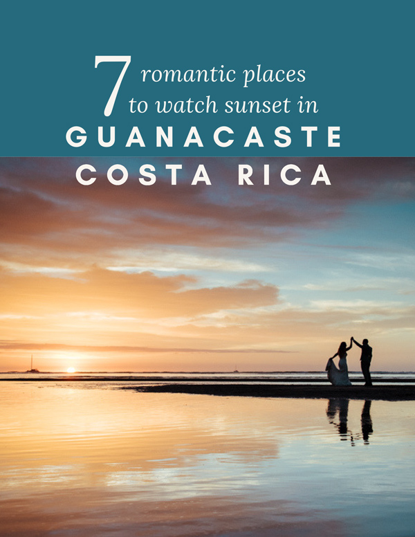 Most romantic places to watch sunset in Guanacaste, Costa Rica by Kristen M. Brown, Samba to the Sea Photography.